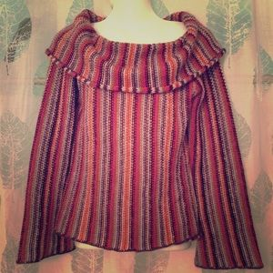 Anthropologie MOTH sweater owl striped M